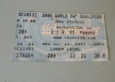 2006 World Cup Qualifier USA Panama 2004 Soccer Game Ticket Stub Washington DC