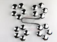 20Pcs Chrome Universal Trim Wheel Nut Screw Bolt Covers Caps 17mm + Removal tool