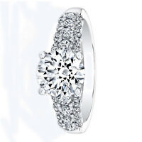 14K White Gold Real 1.30 Ct Diamond Engagement Ring Size 9 10