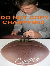 CALEB HANIE,BRONCOS,BEARS,COLORADO ST.,SIGNED,AUTOGRAPHED,NFL FOOTBALL,COA,PROOF