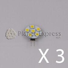 3x Ampoule G4 6 Led SMD Blanc Froid 90 Lumens 12V AC DC caravane bateau voiture