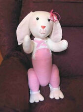 New Vintage Handmade Bunny Rabbit with Overalls