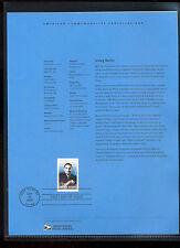 #3669 37c Irving Berlin USPS #0232 Souvenir Page