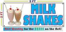 Full Color MILK SHAKES Banner Sign Ice Cream Carnival Fair Circus Festival Park
