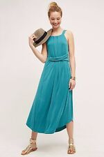NWT SZ M $158 ANTHROPOLOGIE AZORES HALTER DRESS BY MAEVE MAXI BLUE