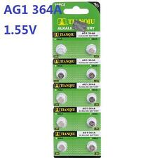 10pcs of Batteries AG1 L621 LR60 364A SR60 Coin Button Cell Battery Watch camera
