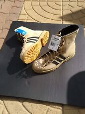 Adidas MUHAMMAD ALI Combat Boots Tan Leather Hi Top MEN Size 10.5  CASSIUS CLAY