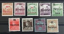 BARANYA-HUNGARY-SERBIA-CROATIA 1919 OVPT MHOG VF Great Collection X2/98