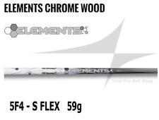 New Ust Mamiya Elements Chrome 5 F4 Woods Shaft Stiff Flex 0.335 Tip Od - 59g