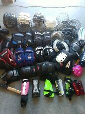 used hockey gear MASSIVE SET** HELMETS/GLOVES/MASKS/PADS/CHEST/GOALIE/GLOVES