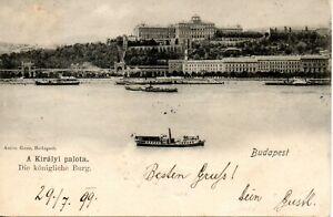 BUDAPEST - A KIRALYI PALOTA KIRALY PALACE 1899 HUNGARIAN POSTCARD LINZ