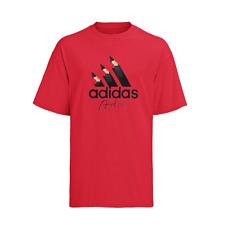 Adidas Men's Artist T-Shirt Active Gym Wear Crew Neck Cotton Logo Printed Logo