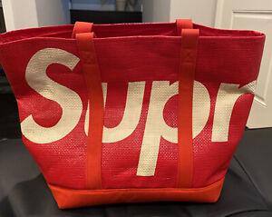Supreme Raffia Tote Bag Red - SS20, Woven, Brand New