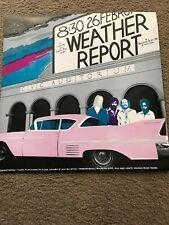 WEATHER REPORT vintage SANTA CRUZ CIVIC AUDITORIUM concert POSTER