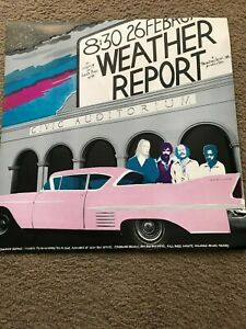 WEATHER REPORT vintage SANTA CRUZ CIVIC AUDITORIUM concert POSTER