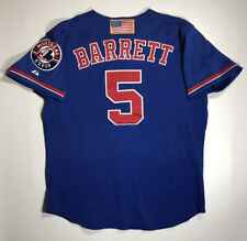 Circa 2001 Michael Barrett Montreal Expos Game Used BP Jersey