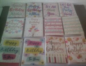 HAPPY BIRTHDAY CARD*COLOURFUL DESIGNS*FEMALE*CELEBRATE*WISHES*CHOOSE*GREETING*