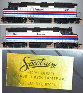 Amtrak 224 F40PH Phase II Passenger Diesel Bachmann Spectrum  HO 87004 JA27.7