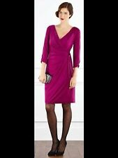 Lovely draped dress size UK 8 draped side bow magenta pink Issa style by coast