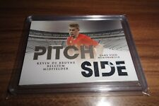 2018 FUTERA UNIQUE PITCH SIDE KEVIN DE BRUYNE GAME USED 2 COLOR JERSEY PATCH /37