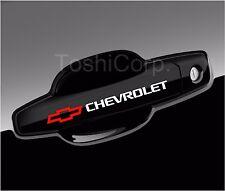 4 CHEVY Chevrolet Stickers Decals Door Handle Wheels  Camaro sticker WHITE-red