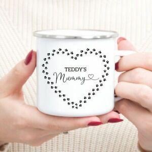 Personalised Dog Pet Mum Tin Camping Mug/Cup Tea Coffee Gift Name Xmas Present