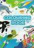 Colouring Book-Malbuch für Kinder-Delfin, Hai, Seepferd und andere Motive #789