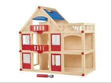 Wooden Dolls House Construction Girls Kids Play 3-8years.play Tive Junior