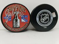 Joey Kocur signed 1994 New York Rangers Stanley Cup Champions Puck w/Cube