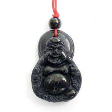 Blue Sandstone Gemstone Tibet Buddhist Happy Buddha Amulet Pendant