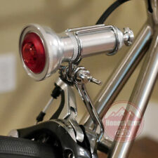 Handmade Vintage Metal Bicycle Rear Tail Light LED Steel Road Cruiser Retro Bike
