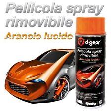 VERNICE SPRAY ARANCIO LUCIDO RIMOVIBILE CERCHI LEGA AUTO MOTO TUNING DGEAR 400ML