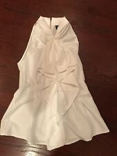 Central Park West Ruffled Blouse Top Sleeveless XS