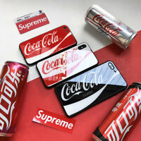 Coca Cola Logo iPhone Glass TPU Case Cover  For iPhone X 6S 6 7 8 Plus