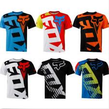 FOX Men Riding Jersey Short Sleeve T-shirts Motocross/MX/ATV/BMX/MTB Dirt Bikeb