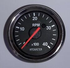 "Electronic Cockpit International 4,000 RPM 2 1/16"" (52mm) Tachometer,12V Chrome"