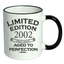 16th Birthday Novelty Cup Mug Coffee Tea Limited Edition 2002 Aged To Perfection