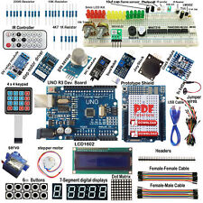 ULTIMATE UNO R3 Starter Kit for Arduino Keypad RTC 1602LCD Servo Motor Gas Relay