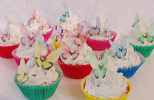 Butterfly Edible Fairy Wing Cupcake Topper 40pc Rainbow Baptism DIY Australia