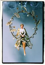 Gold Holly Angel in Wire Wreath decoration by Gisela Graham