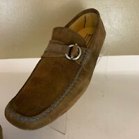 BARIONI Mens Size 12 Authentic Designer Drivers Loafer Shoes brown Suede Leather