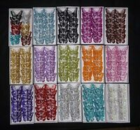Box of 12, 8cm Clip-On Jewelled & Glitter Butterflies Wedding Craft Decoration.
