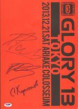 Sergei Kharitonov Raymond Daniels Peter Aerts Signed Glory 13 Program PSA/DNA