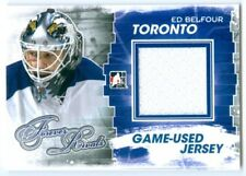 """ED BELFOUR """"BLUE GAME USED JERSEY CARD"""" ITG FOREVER RIVALS"""