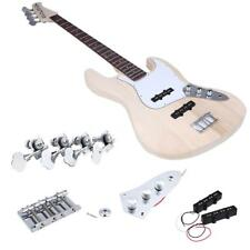 4 Strings JAZZ Bass Style Solid Basswood Body Electric Bass DIY Kit Set Hot A1A6