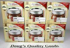 Lot Of 6 Kerr Regular Mouth Mason Lids, Home Canning Jar 72 lids Total FAST SHIP