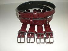 Dolls Pram Coach built vintage pram real leather  suspension straps in Burgundy