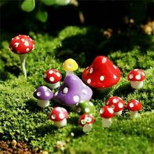 Mini 20 Pcs Mushroom Miniatures Set Fairy Garden Ornament Lawn Terrarium Decor