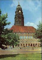 Dresden Sachsen DDR Postkarte color AK um 1969 Turm Neues Rathaus ungelaufen