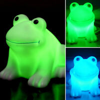 1 X Cute Colorful Changing LED Light Night Lights Frog Shape Lamp Home Bar Decor